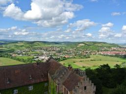 Blick vom Burgfried Schloss Saaleck