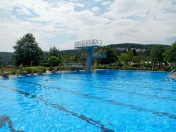 Schwimmen im schönen Spessart