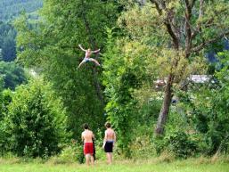 Sprungbaum an der Sinn