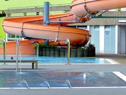 Kinderbereich mit Wasserspielfontainen