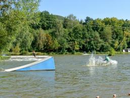 Wakeboard auf dem Thulbasee