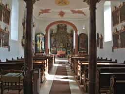 Wallfahtskirche Rengersbrunn von innen