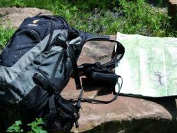 Rucksack, Karte und Wanderlust im Spessart