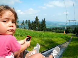 Kinderherzen schlagen höher auf der Rodelbahn