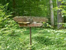 Wanderwegweiser Gräfendorf / Heilig Kreuz
