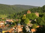 Blick auf Burg und Stadt von der Kreuzkapelle