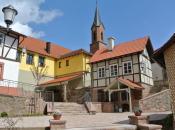 Dorfplatz mit Brotbackofen in Obersinn